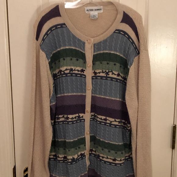 Alfred Dunner Womens Classics Shell 2Fer Sweater